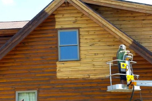 Tryskání dřevěných fasád